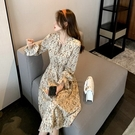 (下殺)韓國碎花裙女中長版連身裙女收腰顯瘦打底內搭裙子【08SG05146】