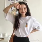 短袖 白色t恤女短袖超火夏季韓版寬鬆短純棉學生上衣ins潮