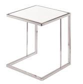 【森可家居】柯林不鏽鋼白玉石小茶几 8ZX686-3 邊几 花盆裝飾置物架