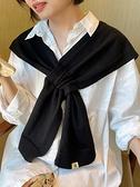 2021韓版新款網紅小披肩女春秋冬季款襯衫毛衣外搭高端圍巾針織 范思蓮恩