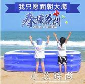 兒童洗澡池 充氣游泳池家用成人小孩洗澡池嬰兒游泳桶寶寶家庭水池 小艾時尚 NMS