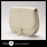小圓包 歐美真皮設計款白色肩背斜背包 mo.oh (包包配件)