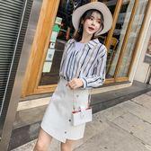 長袖套裝 春裝網紅顯瘦俏皮洋氣裙兩件套裝_現貨+預購【韓國服飾】☆Mandy國際時尚☆
