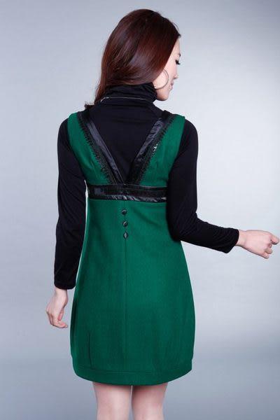 春秋裝新款女裝時尚個性修身高貴氣質花邊毛呢連衣裙 222