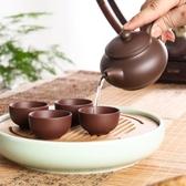 紫砂壺紫砂壺宜興原礦朱泥仿古壺純手工茶壺球孔過濾泡茶壺功夫茶具 特賣