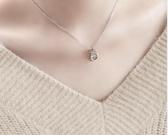 純銀跳動的心靈動之心鑲鑽項鍊女時尚鎖骨鍊