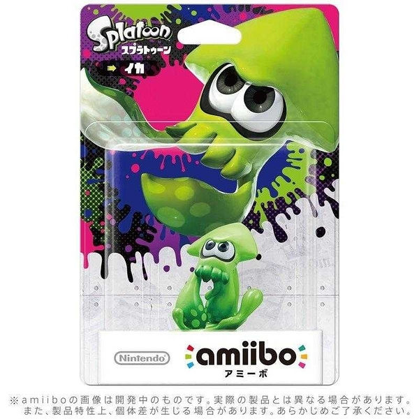 任天堂 Switch NS Amiibo NFC 漆彈大作戰 SPLATOON INKLING SQUID 綠色烏賊