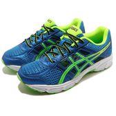 Asics 慢跑鞋 Gel-Contend 4 GS 藍 綠 入門款 舒適緩震 運動鞋 女鞋 大童鞋【PUMP306】 C707N-4385