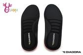 DIADORA迪亞多那 3D記憶鞋墊 緩衝 足弓支撐 減壓 防臭 23-28CM H8770#黑色◆OSOME奧森鞋業