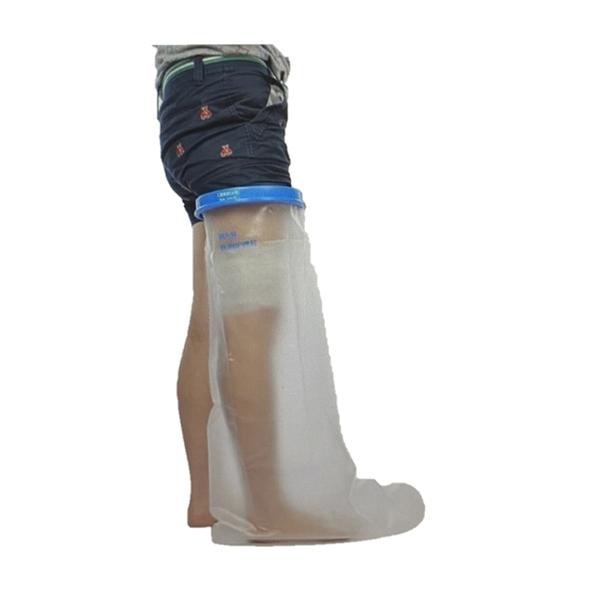Lesme 淋浴用防水護腿套 全腿 重複使用 Full Leg Cast Covers Waterproof Leg Shower 傷口乾燥 [9美國直購]