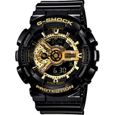 CASIO 卡西歐 G-SHOCK 黑金重機雙顯錶 GA-110GB-1ADR / GA-110GB-1A