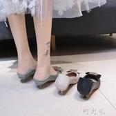 軟皮單鞋女春款百搭貓跟小跟黑色皮鞋女工作鞋方扣高跟鞋3cm 町目家