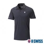 K-SWISS Small Neon Logo Polo排汗POLO衫-男-黑