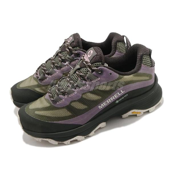 Merrell 戶外鞋 Moab Speed GTX 深綠 紫 黑 防水 黃金大底 女鞋【ACS】 ML066854