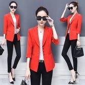 中大尺碼韓版修身外搭空調衫女開衫薄款大碼七分袖短款外套 zm5078『男人範』