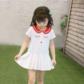 女童連身裙夏季兒童裝嬰兒1歲3短袖公主裙