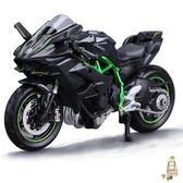 雙11瘋狂購-汽車模型美馳圖118杜卡迪雅馬哈川崎摩托車模型擺件成人玩具仿真合金機車