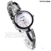 TIVOLINA 交錯的舞曲 美麗自信 鑲鑽 女錶 防水錶 藍寶石水晶鏡面 白色 手鍊 LAW3729DW