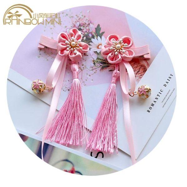 中國風兒童發夾民族風流蘇寶寶頭飾發卡唐裝漢服旗袍新年搭配女童