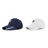 男帽 棒球帽 素色 點點 透氣 可調節 防曬 遮陽帽 運動 棒球帽【JT14254】 icoca  08/08