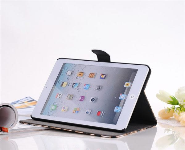 mini3免運 時尚豹紋 蘋果ipad mini3/2/1 保護套 蘋果迷你支架皮套 左右翻保護殼