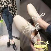 兩穿奶奶鞋粗跟單鞋女小皮鞋新款網紅女鞋秋仙女鞋中跟溫柔鞋