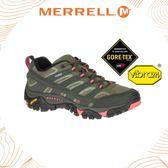 【MERRELL 女 MOAB 2 GORE-TEX《橄綠/粉橘》】41106/登山鞋/休閒鞋/功能鞋/健行/戶外