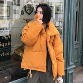 新款冬季外套棉襖學生棉服女短款面包服韓版寬鬆bf原宿風棉衣 摩可美家