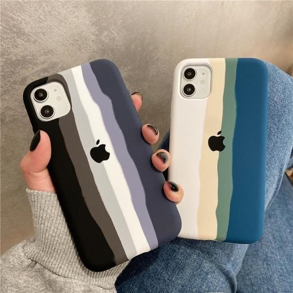 手機殼 水墨畫情侶液態硅膠適用iPhone 11Pro Max蘋果12手機殼
