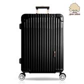 【Sylvain Lefebvre希梵】New繽紛馬卡龍系列鋁框旅行箱 行李箱-24吋(黑)