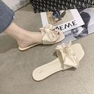仙女風涼拖鞋女外穿2021年夏季新款時尚百搭蝴蝶結防滑一字拖鞋女新品