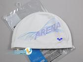 *日光部屋* arena (公司貨)/AMS-8603-WBU 2WAY 舒適矽膠泳帽