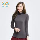 【WIWI】MIT溫灸刷毛高領發熱衣(銀河灰 女S-2XL)
