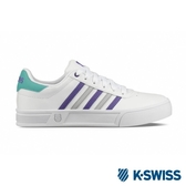 【K-SWISS】Court Lite Stripes休閒運動鞋-女-白/紫/綠(96149-124)