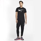 NIKE 長褲 PRO DRI-FIT 黑 灰LOGO 訓練 健身 運動褲 男 (布魯克林) CJ2219-010