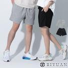 【OBIYUAN】棉褲 短褲 素面 韓國製 厚磅 情侶款 五分褲 休閒褲 2色【F10010】