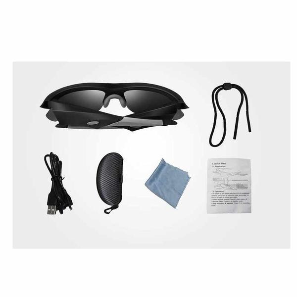 可錄影太陽眼鏡 1080P 附32G記憶卡 登山 騎車 釣魚 露營 滑板運動 Camera Video Sunglasses [2美國直購]