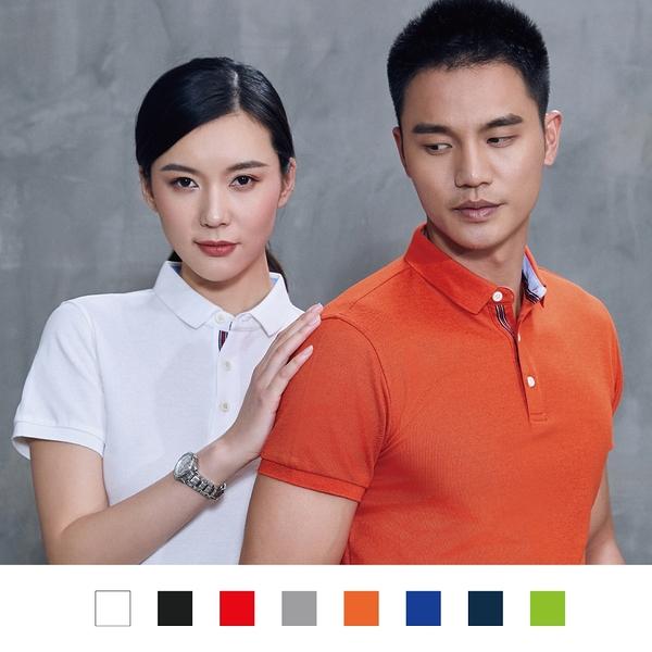 【晶輝團體制服】LS8189-短袖滾邊配色POLO衫素面款式(印刷免費)一件也做,快速交貨