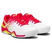ASICS 19FW 頂級 女網球鞋 RESOULUTION 7系列  E751Y-116 贈護腕【樂買網】