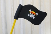 海賊王 魯夫 海賊旗 骷顱頭 繽紛色彩 汽車收音機天線球 裝飾天線 天線娃娃 裝飾娃娃 旗子造型球