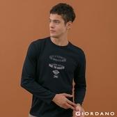 【GIORDANO】男裝經典標語印花T恤 - 13 標誌黑