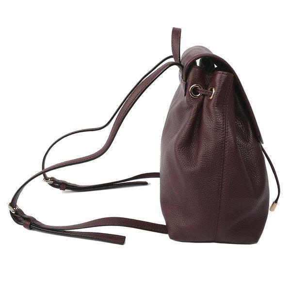 【KATE SPADE】素面皮革後背包(紅酒色)WKRU3939 902