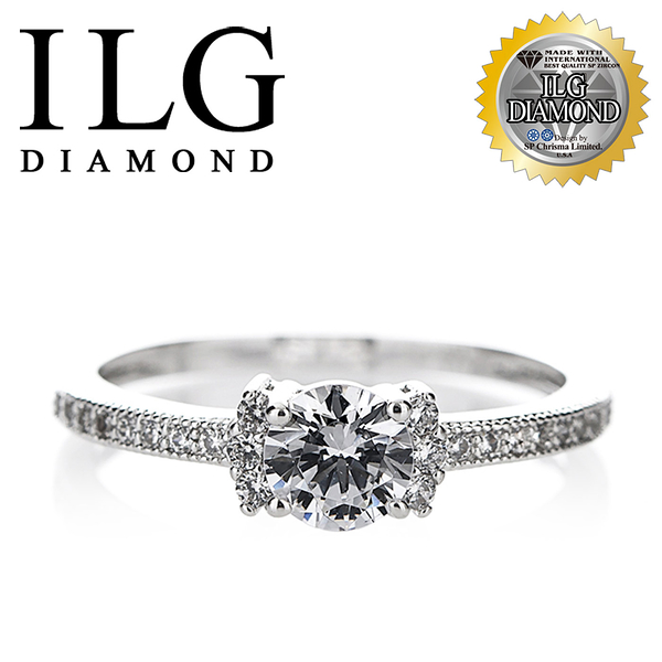 【ILG鑽】頂級八心八箭鑽石戒指- 50分花墜系列女戒 RI156