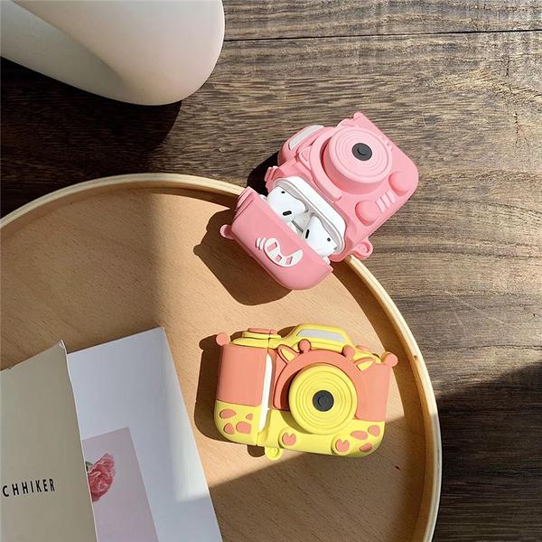 Airpods 1/2代 專用 台灣發貨 [ 長頸鹿+小豬相機 ] 藍芽耳機保護套 蘋果無線耳機保護