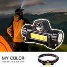 頭燈 磁吸式 工具燈 LED燈 緊急照明 USB充電式 維修燈 露營 迷你 強磁充電頭燈【M073】MY COLOR