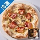 金品拿坡里乳酪蘑菇培根8吋比薩200G【愛買冷凍】