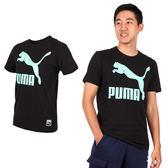 PUMA 流行系列男Logo短袖T恤(短T 慢跑 路跑 免運 ≡排汗專家≡