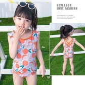 泳衣女童泳衣2020新款兒童公主寶寶連身泳裝夏天洋氣可愛小童紅游泳衣 玩趣3C