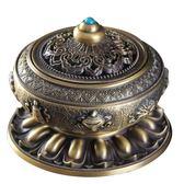 尼泊爾合金銅盤香爐檀香熏香爐八寶八吉祥香薰爐居室佛具茶道擺件 熊貓本