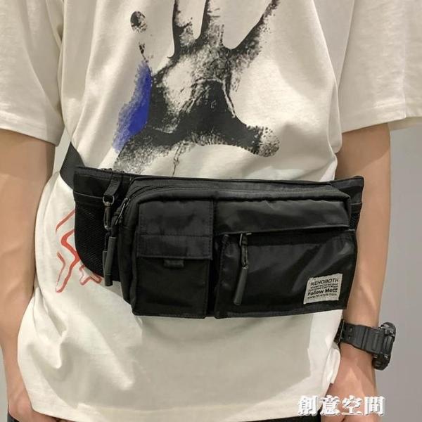 胸包男ins超火運動單肩包時尚潮流斜挎包男生個性潮牌男士小腰包 創意新品